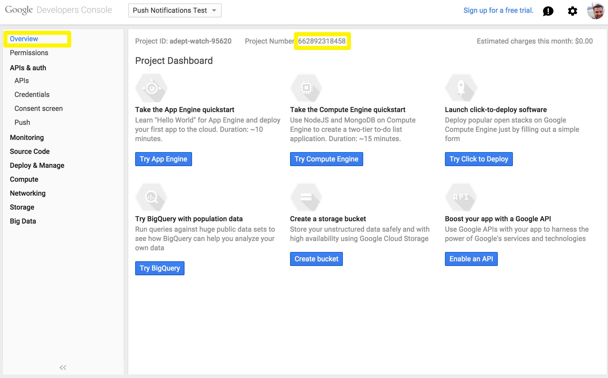 Project number screenshot